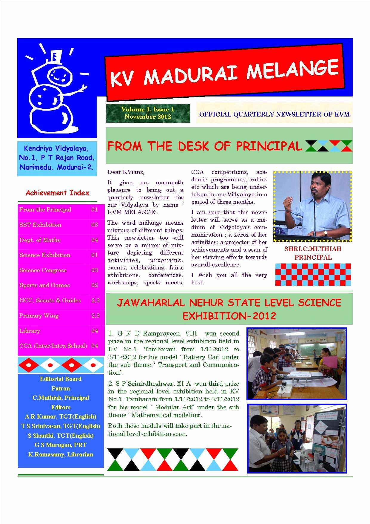 Newsletter Sample for School New School Newsletter