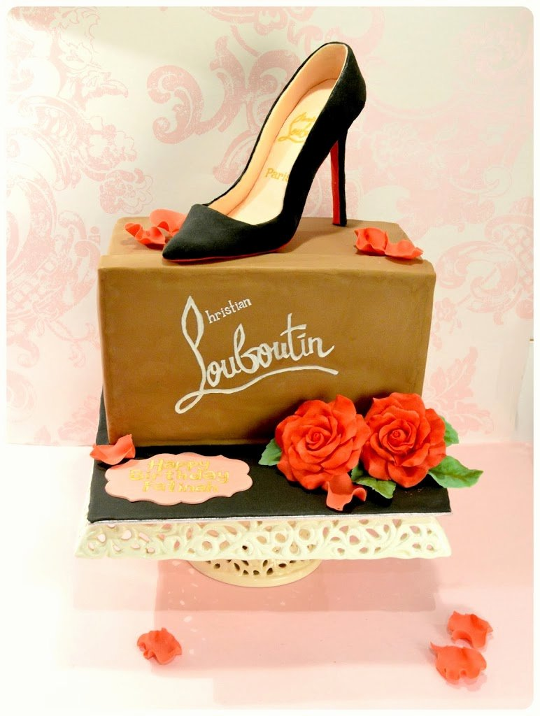 Nike Shoe Box Label Template Best Of Christian Louboutin Pigalle Shoe Box Cake