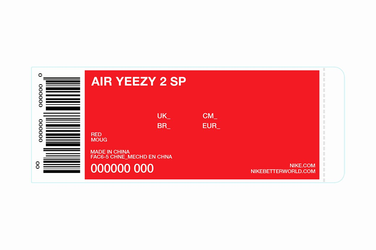 Nike Shoe Box Label Template Best Of Kanye Giving Away 50 Pairs Of Up Ing Red Nike Air Yeezy Iis
