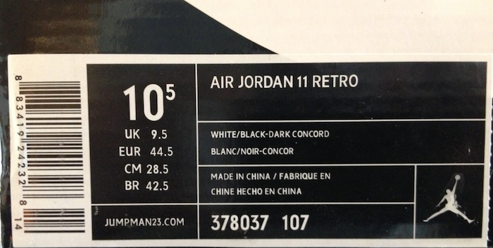 Nike Shoe Box Label Template Elegant 25 Ways to Tell if Your Jordan 11s are Fake or Real