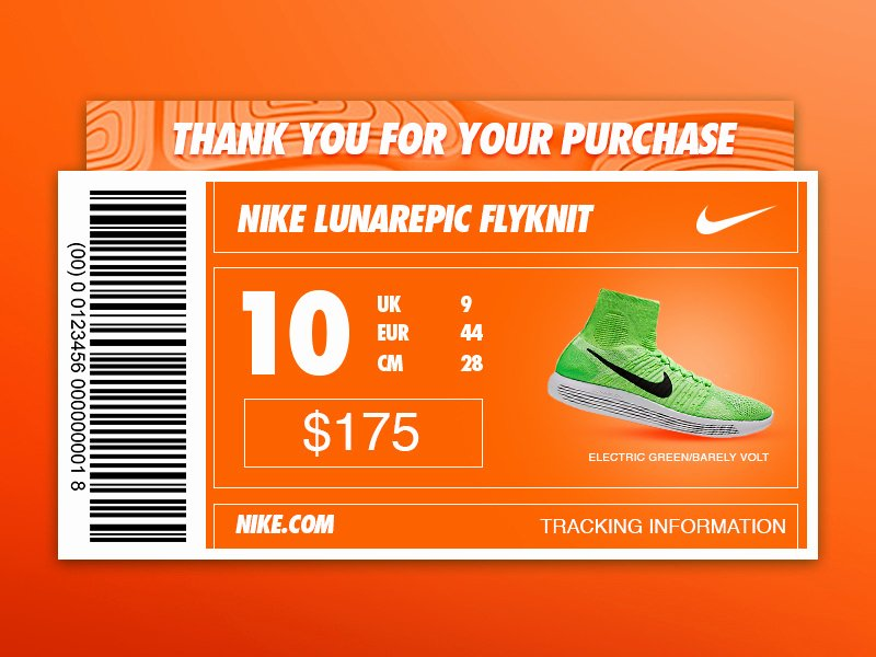 Nike Shoe Box Label Template Elegant Daily Ui 017 by Jared Coomes Dribbble