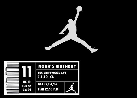 Nike Shoe Box Label Template Elegant Jordan Shoe Box Invitation
