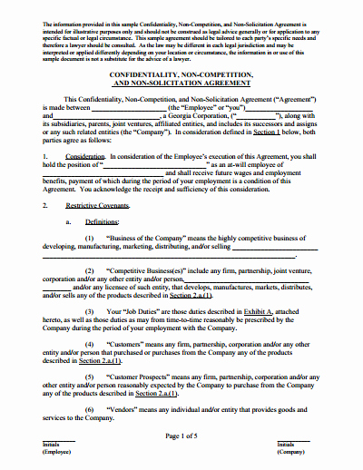 Non Compete Agreement Template Free Best Of Non Pete Agreement Free Download Create Edit Fill and Print Pdf Templates Wondershare