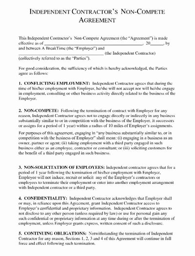 Non Compete Agreement Template Free Elegant More Businesses Using Non Pete Contracts