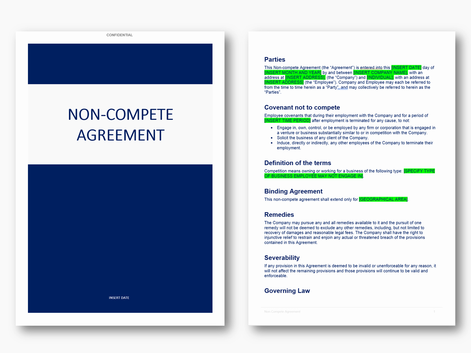 Non Compete Agreement Texas Template Awesome Non Pete Agreement Template In Word