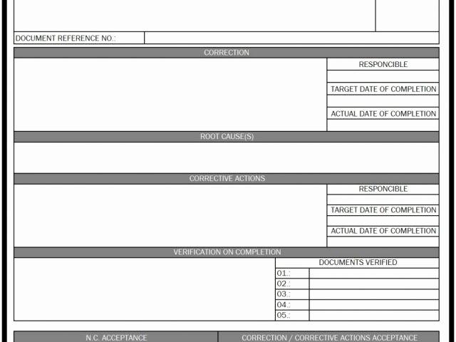Non Conformance Report Template Beautiful Supplier Non Conformance Report Template