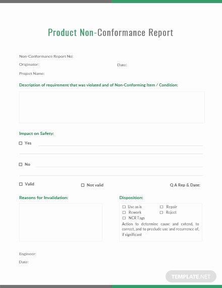 Non Conformance Report Template Elegant Audit Non Conformance Report Template Download 154 Reports In Word Pages Pdf