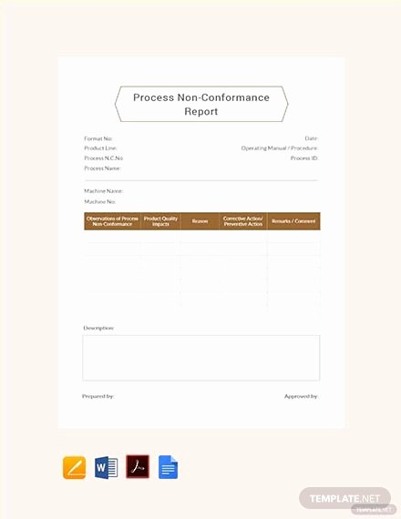 Non Conformance Report Template Fresh Free Simple Non Conformance Report Template Download 365 Reports In Word Apple Pages Pdf