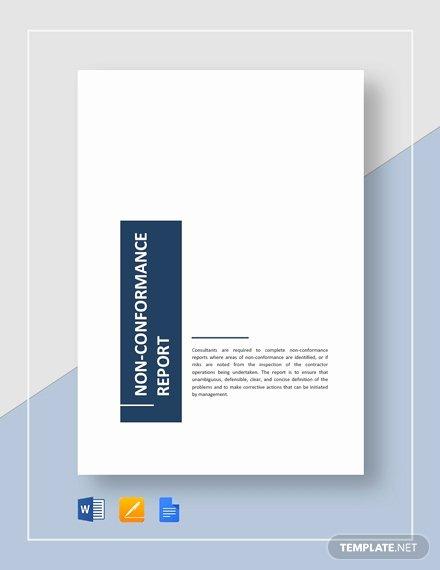 Non Conformance Report Template Luxury 17 Non Conformance Report Templates Pdf Docs Word Pages