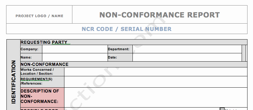 Non Conforming Material Report Fresh 25 Of Qc Non Conformance Report Template