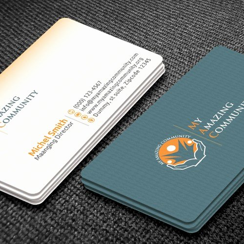 Non Profit Business Cards Awesome My Amazing Munity Non Profit Business Card