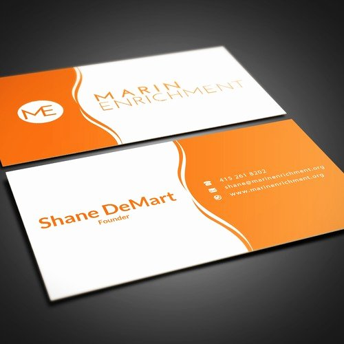 Non Profit Business Cards Awesome Non Profit Business Card Clean and Colorful