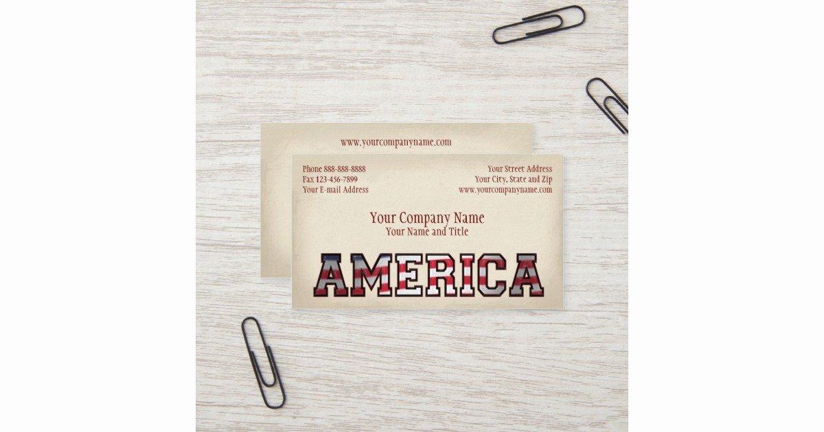 patriotic america government non profit business business card