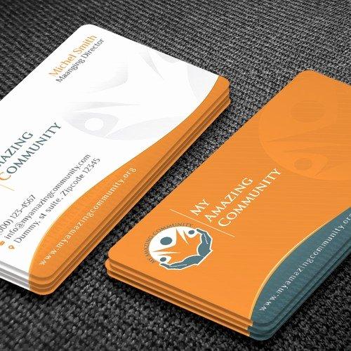 Non Profit Business Cards Fresh My Amazing Munity Non Profit Business Card