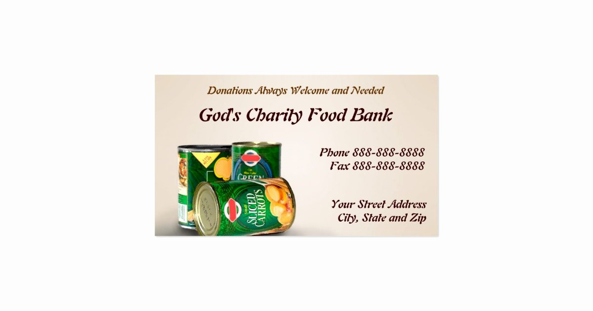 Non Profit Business Cards Lovely Charity Food Bank Non Profit Business Card
