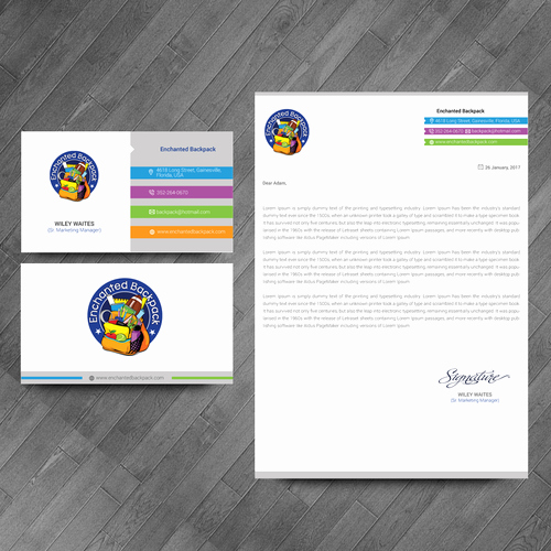 Non Profit Business Cards New Educational Non Profit Letterhead & Business Cards