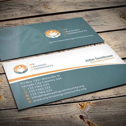 Non Profit Business Cards Unique My Amazing Munity Non Profit Business Card