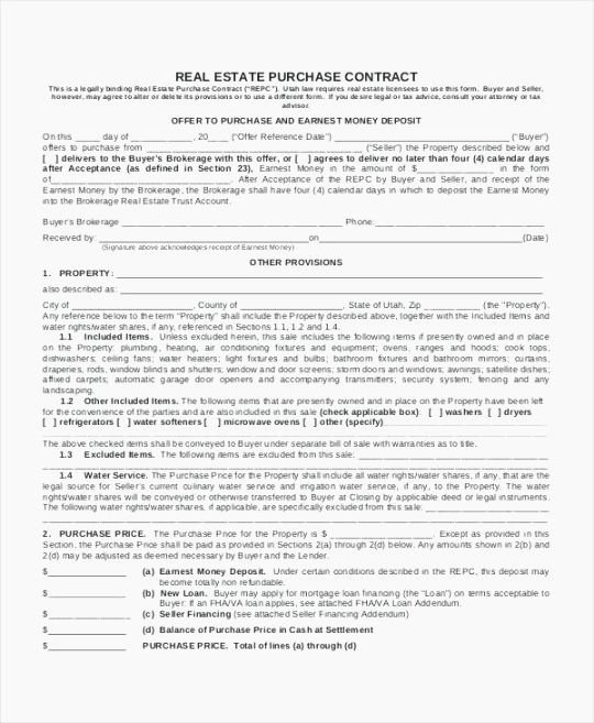 Non Refundable Deposit Agreement Template New top 38 Candid Free Printable Real Estate Purchase Agreement