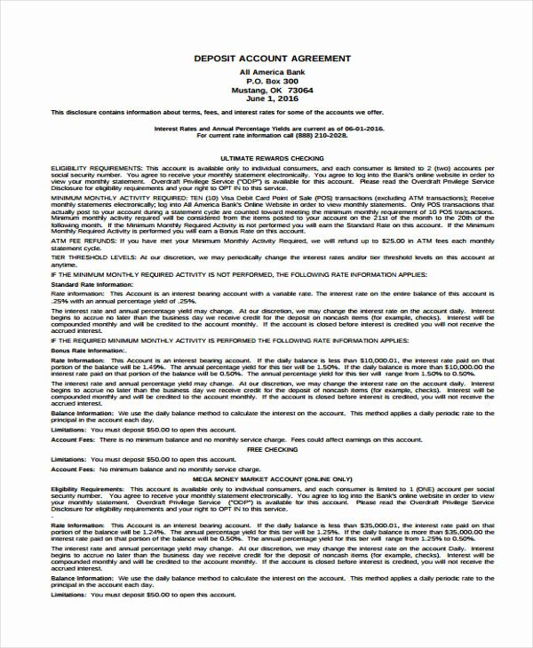 Non Refundable Deposit Agreement Template Unique 11 Deposit Agreement Templates Pdf Word