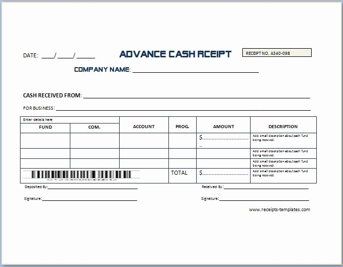 Non Refundable Deposit Agreement Template Unique Non Refundable Deposit Receipt Template