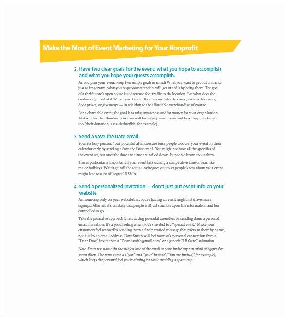 Nonprofit Marketing Plan Template Best Of 17 event Marketing Plan Templates Doc Excel Pdf