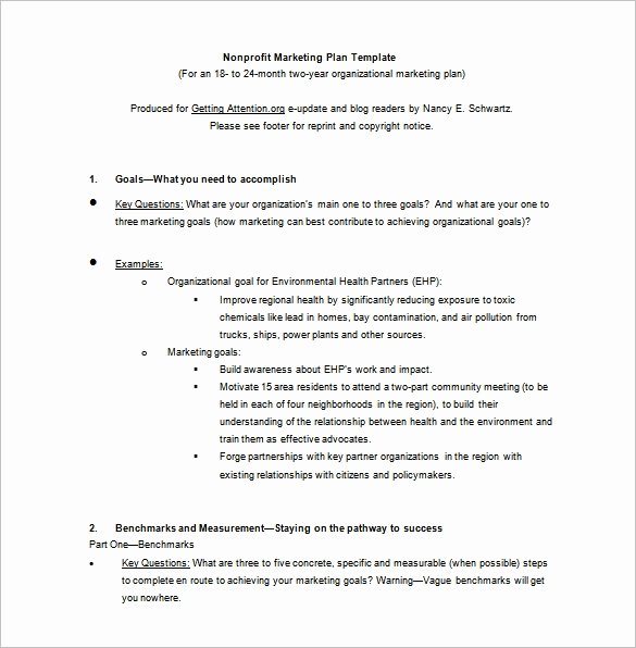 Nonprofit Marketing Plan Template Fresh 12 Marketing Plan Templates Free Pdf Word format Download