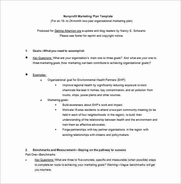Nonprofit Marketing Plan Template Fresh 12 Marketing Plan Templates Free Pdf Word format Download