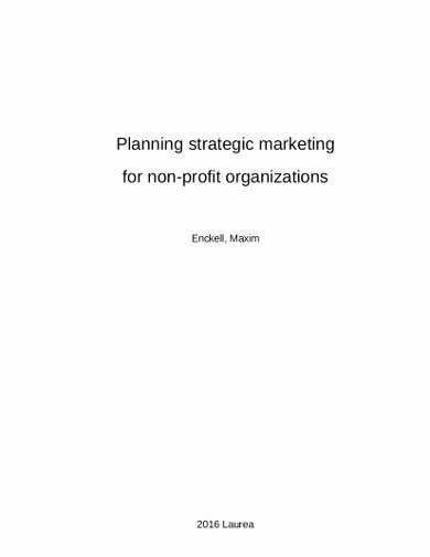 Nonprofit Marketing Plan Template Fresh 13 Nonprofit Marketing Plan Templates Pdf