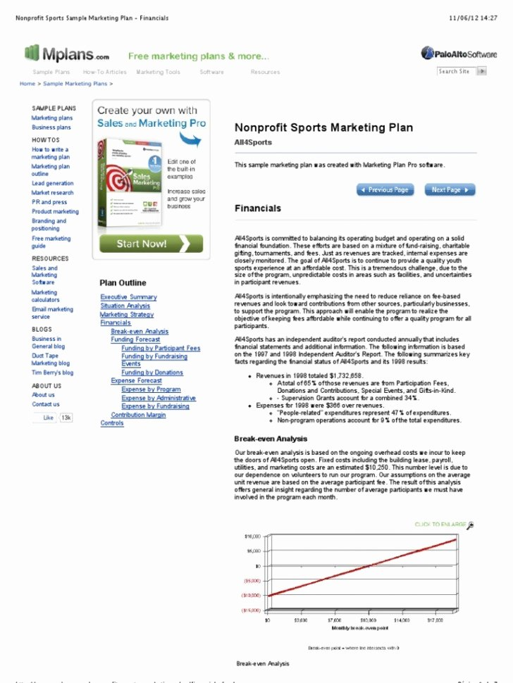 Nonprofit Marketing Plan Template Inspirational 007 Nonprofit Marketing Plan Staggering Sample Strategic Template Pdf Dialmforminky