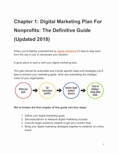Nonprofit Marketing Plan Template Inspirational 13 Nonprofit Marketing Plan Templates Pdf