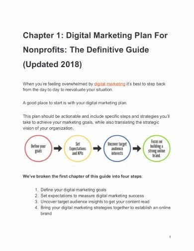 Nonprofit Marketing Plan Template Inspirational 13 Nonprofit Marketing Plan Templates Pdf