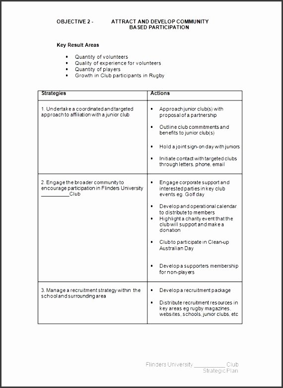 strategic plan template free