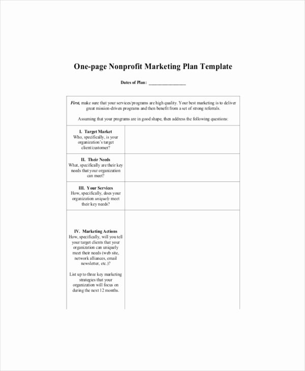 Nonprofit Marketing Plan Template Luxury E Page Marketing Template – 7 Free Word Pdf Documents Download
