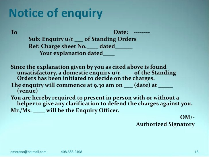 Notice Of Disciplinary Action Luxury Disciplinary Action