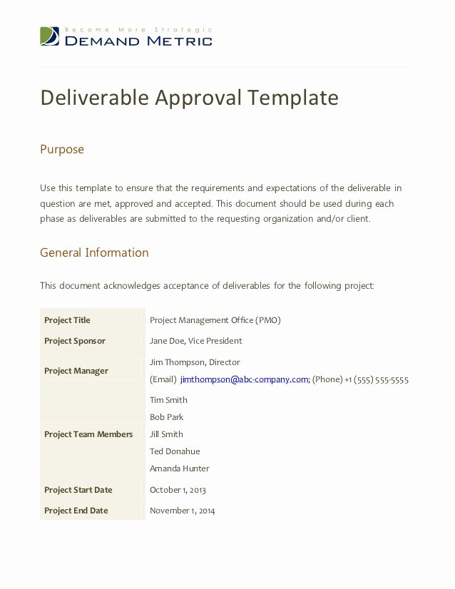 Notice to Proceed form Awesome Deliverable Approval Template
