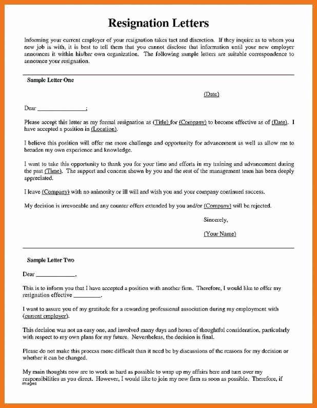 Nurses Letter Of Resignation Beautiful 5 6 Resignation Letter for Nursing