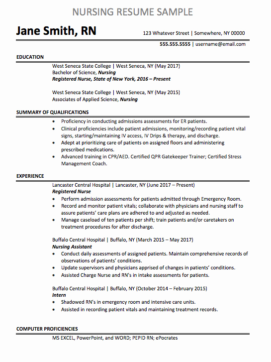 Nursing Clinical Experience Resume Luxury Registered Nurse Resume Sample