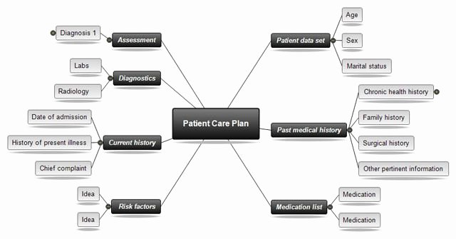 Nursing Concept Mapping Template Inspirational Nursing Concept Map Template