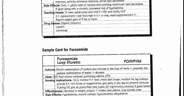 Nursing Drug Card Template New Sample Drug Card 2 1700 X 2339 School Pinterest