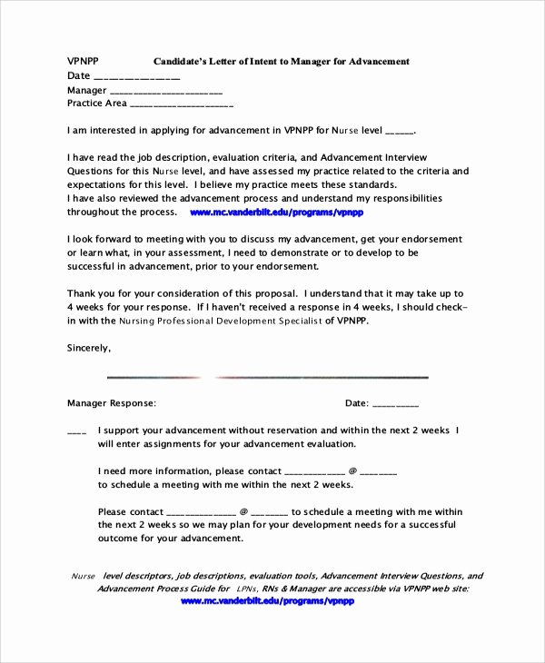 Nursing Letter Of Intent Fresh Sample Letter Of Intent 47 Examples In Pdf Word