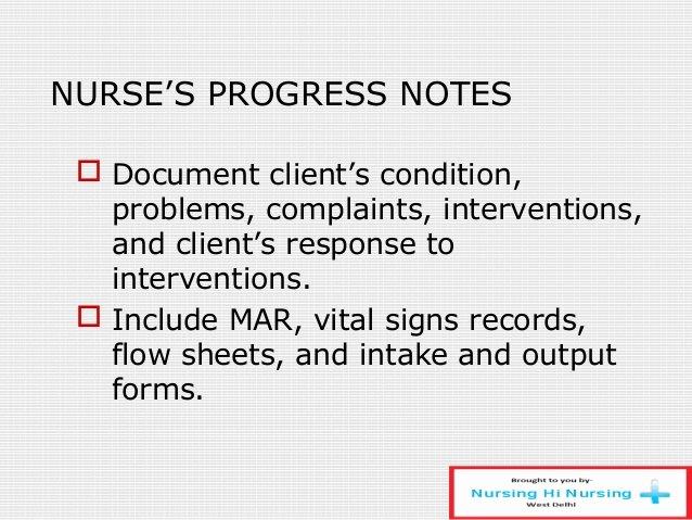 Nursing Progress Note Sample New Nursing Process and Documentation