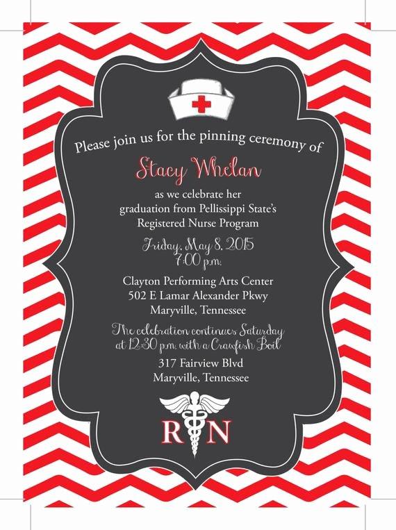 Nursing School Graduation Invitations Awesome Items Similar to Nursing Graduation Rn Lpn School Pinning Invitation Digital Download On Etsy