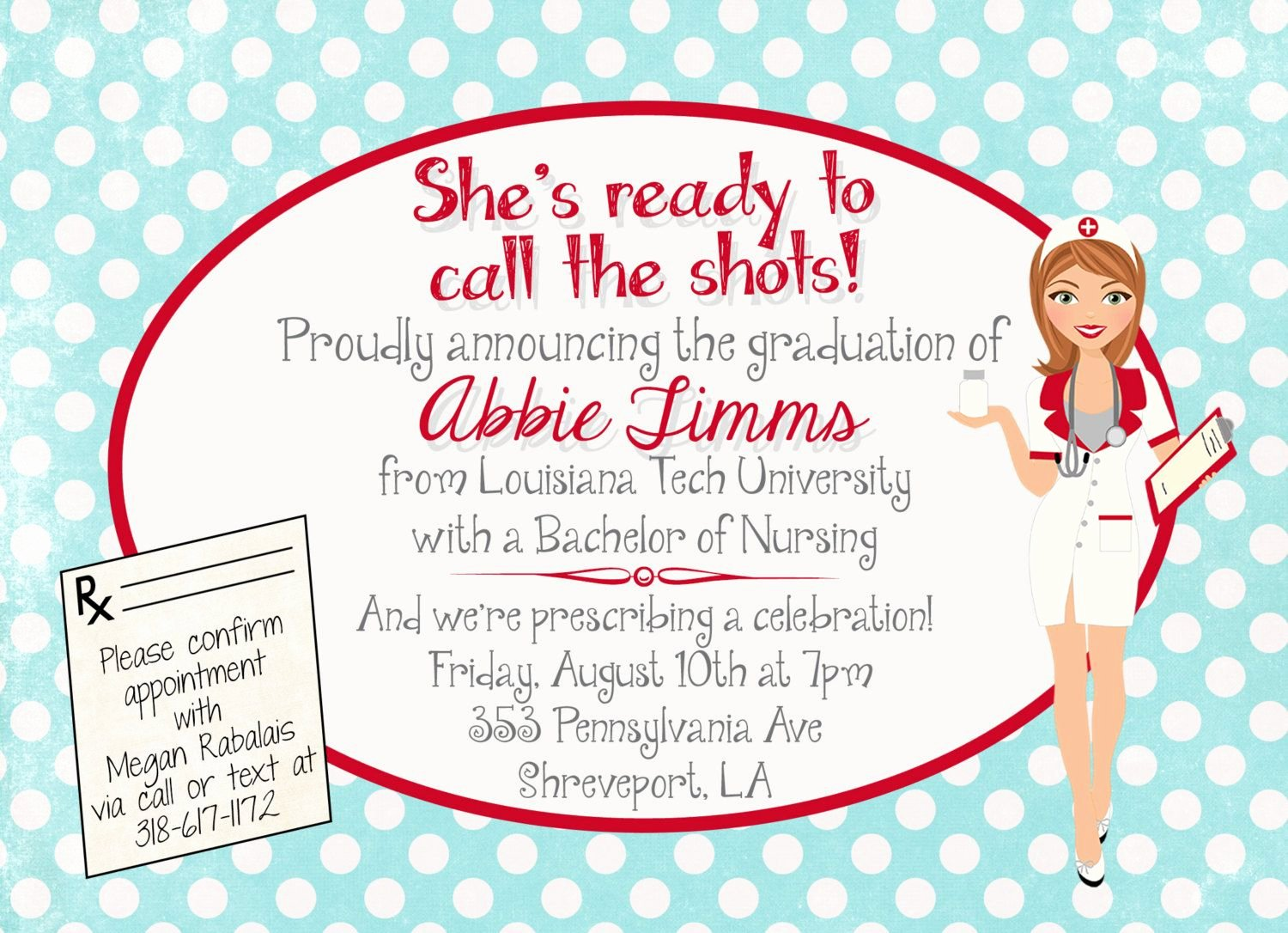 Nursing School Graduation Invitations Best Of Customized Nursing Graduation Party Invitation by andyneal331 $15 00 Party