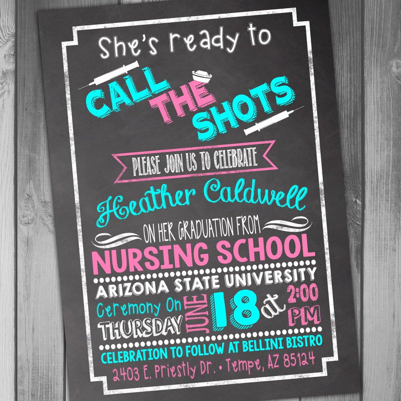 Nursing School Graduation Invitations Inspirational Nursing School Graduation Invitation Graduation Party College