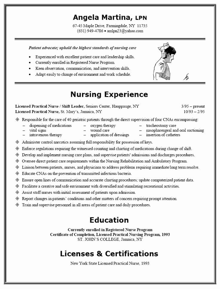 Nursing Student Resume Examples Elegant 17 Best Images About Nursing Resumes On Pinterest
