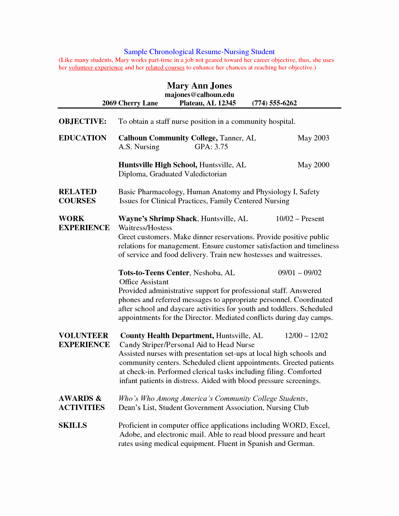 Nursing Student Resume Examples New Nursing Student Resume