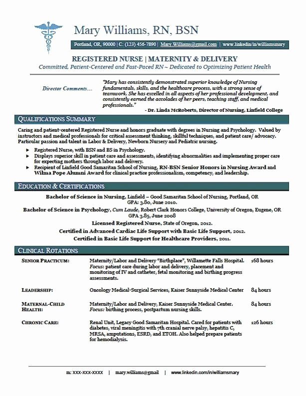 Nursing Student Resume Template Inspirational Sample New Rn Resume Rn New Grad Nursing Resume Randoms