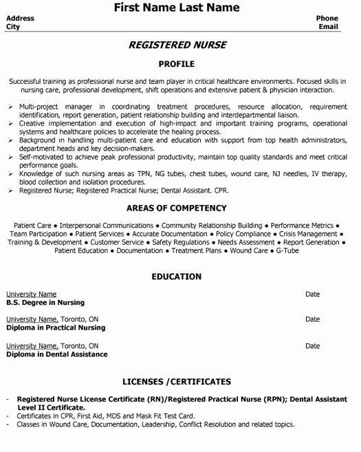 Nursing Student Resume Template New top Nurse Resume Templates & Samples