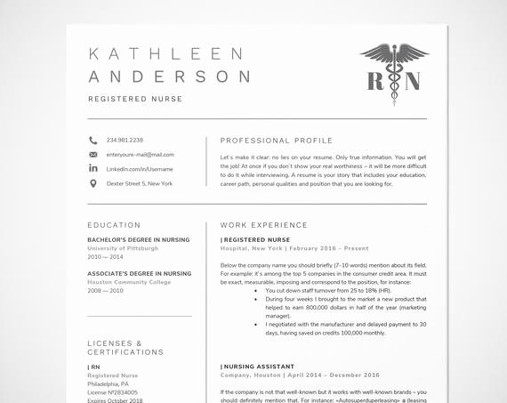 Nursing Student Resume Template Word Best Of Registered Nurse Resume Template for Word Nursing Resume