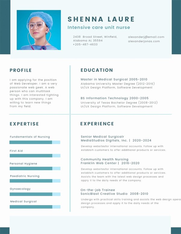 Nursing Student Resume Template Word Elegant 35 Sample Cv Templates Pdf Doc